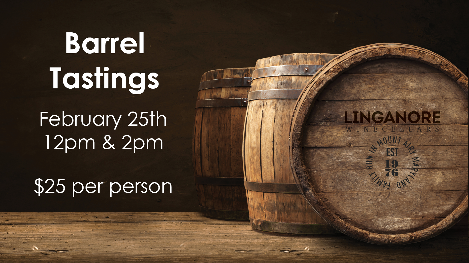 Barrel Tastings- Things to Do Frederick MD