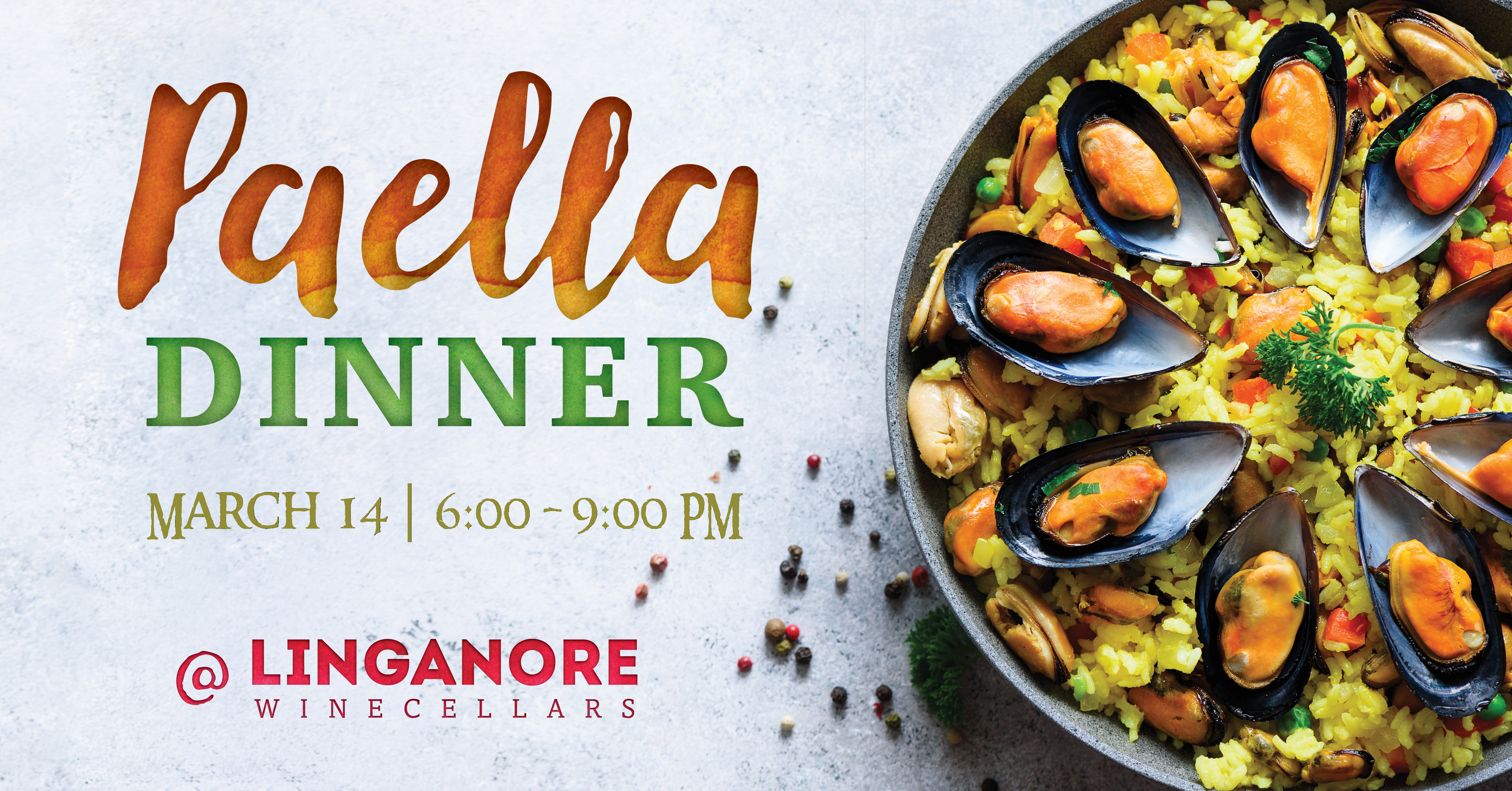Paella Dinner is March 14